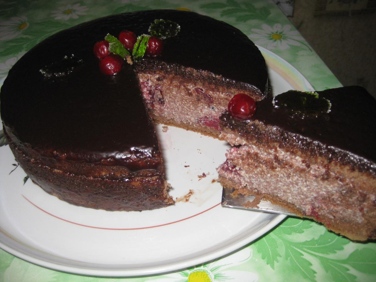 Торт с вишней пошаговый рецепт в домашних условиях